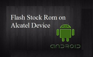 How to Flash Stock Rom on Alcatel one touch 6010d