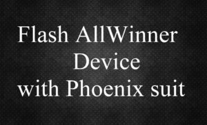 Flash AllWinner Device with Phoenix suit